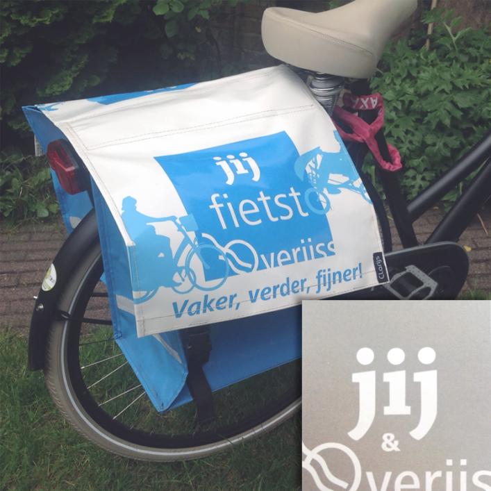 Fietstas, onderdeel van project jij@overijssel