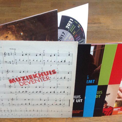 Brochure in platenhoes Muziekhuis